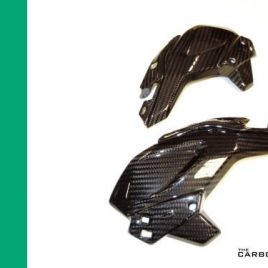 KAWASAKI Z900 2017 ONWARDS CARBON FIBRE HEADLIGHT SIDE COWLING TRIMS TWILL WEAVE