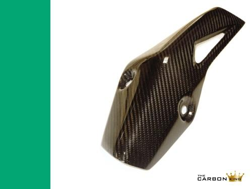 KAWASAKI ZX10R 2016 CARBON FIBRE EXHAUST HEAT SHIELD (A) IN TWILL WEAVE FIBER