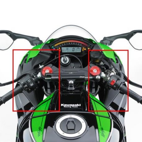 KAWASAKI ZX10R 2016 ON CARBON FIBRE UPPER FAIRING INFILL PANELS IN TWILL FIBER