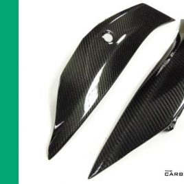 KAWASAKI ZX10R 2016 ON CARBON FIBRE REAR SEAT UNIT SIDE FAIRING PANELS IN TWILL