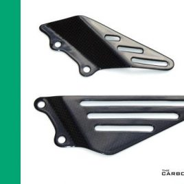 THE CARBON KING KAWASAKI ZX14R ZZR14R ABS 2006-14 RIDERS HEEL GUARDS FIBER FIBRE