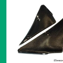 KAWASAKI ZX6R 2005-06 CARBON FIBRE FAIRING PANELS TRIMS (PAIR) TWILL WEAVE