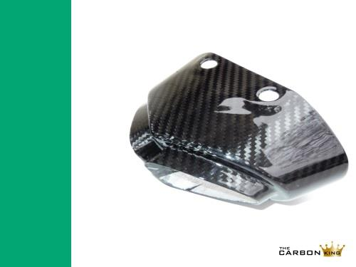 THE CARBON KING KAWASAKI ZX6R 2007-08 CARBON FIBRE EXHAUST TIP COVER TRIM FIBER