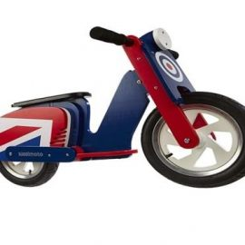KIDDIMOTO WOODEN SCOOTER 'BRITPOP' BALANCE BIKE AGES 2-5