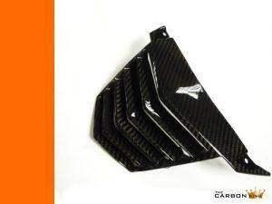 KTM DUKE 125 200 390 2011-16 CARBON FIBRE VEE PANEL BELLY PAN CENTRE IN TWILL