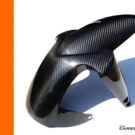 KTM DUKE 690 2012-15 CARBON FRONT MUDGUARD IN TWILL WEAVE (2NDS)