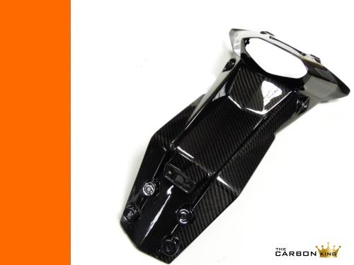 KTM DUKE 125 200 390 CARBON FIBRE REAR NUMBER PLATE MOUNT TWILL WEAVE 2011-16