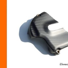 THE CARBON KING KTM RC8 & RC8R CARBON FIBRE SPROCKET COVER IN SATIN TWILL WEAVE