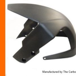 KTM RC8 & SMT 990 CARBON FIBRE FRONT MUDGUARD IN MATT PLAIN SATIN WEAVE FENDER
