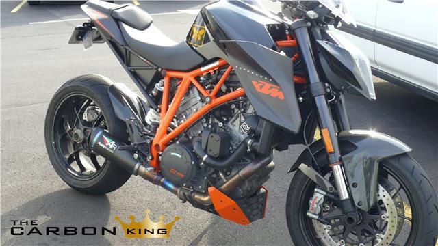 KTM SUPERDUKE 1290 R 2014 ON CARBON FIBRE FRONT MUDGUARD FENDER FIBER DUKE TWILL