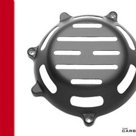 THE CARBON KING MATT CARBON FIBRE CLUTCH COVER FITS MOST DUCATI FIBER 3K PLAIN