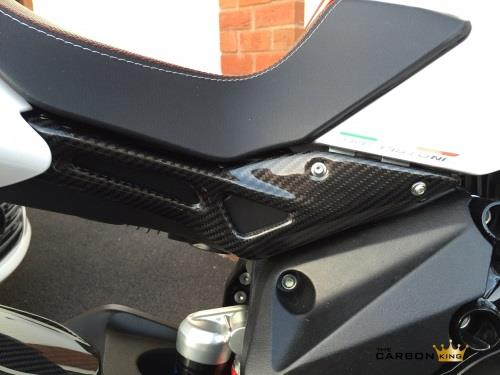 MV AGUSTA BRUTALE 800 DRAGSTER CARBON FIBRE UNDER SEAT SIDE PANELS FIBER TWILL