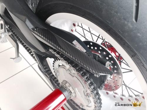 MV AGUSTA BRUTALE 800 DRAGSTER CARBON FIBRE UPPER AND LOWER CHAIN GUARD SET