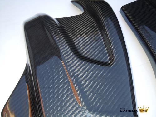 THE CARBON KING BMW S1000RR CARBON FIBRE SWINGARM COVERS (PAIR) IN TWILL WEAVE