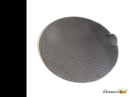 REAL CARBON FIBRE MINI PETROL FLAP COVER PAIR LIKE JCW SEE DESCRIPTION PLAIN 3K