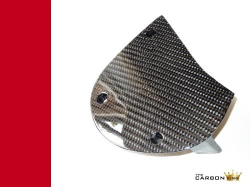 THE CARBON KING 600 750 SS DUCATI CARBON FIBRE SPROCKET COVER FIBER 3K TWILL