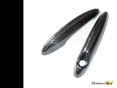 CARBON FIBRE MINI DOOR HANDLE COVERS (PAIR) SEE DESCRIPTION RE MODEL FITMENT 2ND