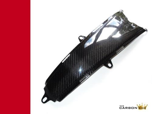 TCK TWILL CARBON FIBRE LOWER PETROL TANK COVER DUCATI MONSTER 696 796 1100 FIBER