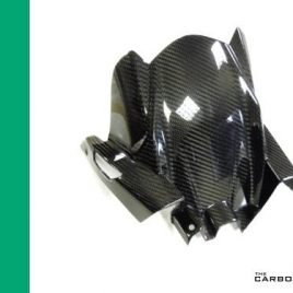 KAWASAKI NINJA 650 CARBON FIBRE REAR MUDGUARD TWILL WEAVE HUGGER 2017 ONWARDS