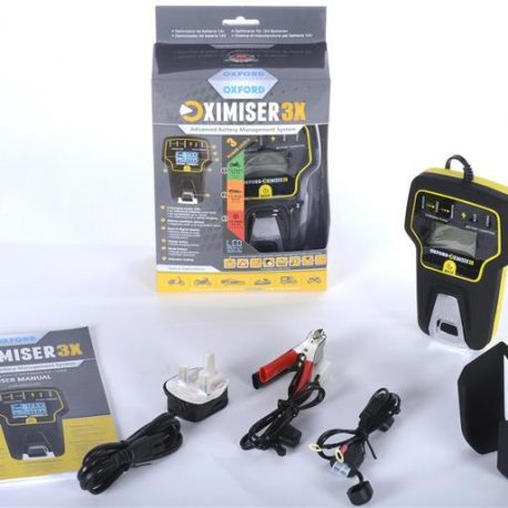 OXFORD OXIMISER 3X OPTIMISER BATTERY CHARGER CAR MOTORCYCLE SCOOTER ATV MOPED