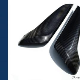 THE CARBON KING YAMAHA R1 07-08 CARBON FIBRE UPPER HEAT SHIELDS (PAIR) FIBER