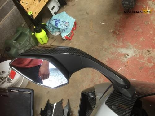 YAMAHA R1 2015 16 CARBON FIBRE WING MIRROR OUTER COVERS R1M IN TWILL WEAVE