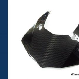 YAMAHA R1 2015 ON CARBON FIBRE FRONT NOSE PANEL IN TWILL GLOSS WEAVE FIBER R1M