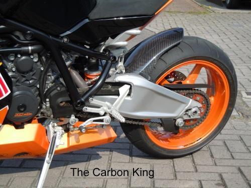 THE CARBON KING KTM RC8 & RC8R CARBON FIBRE CHAIN GUARD FIBER