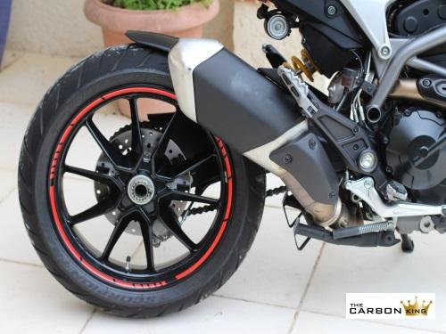 RED MOTO GP WHEEL RIM STICKER SET DUCATI HONDA YAMAHA APRILIA SUZUKI KAWASAKI