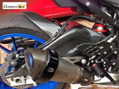 THE CARBON KING BMW S1000RR CARBON FIBRE SWINGARM COVERS (PAIR) IN PLAIN WEAVE