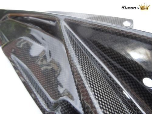 BMW S1000RR 2009-2014 CARBON FIBRE UPPER FAIRING INFILL PANELS PLAIN WEAVE FIBER