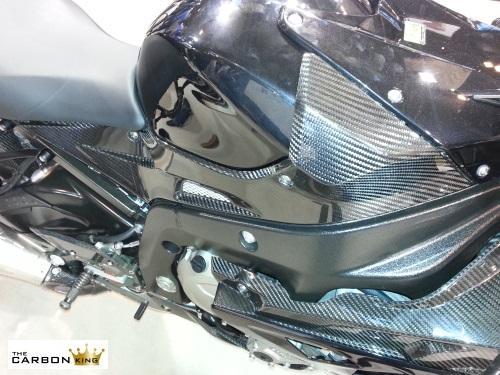 BMW S1000RR 2009-14 CARBON FIBRE UPPER FAIRING INFILL PANELS (PAIR) FIBER