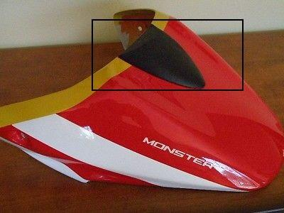 DUCATI MONSTER 659 696 796 1100 SEAT COWL CARBON FIBRE TOP TRIM COVER FIBER