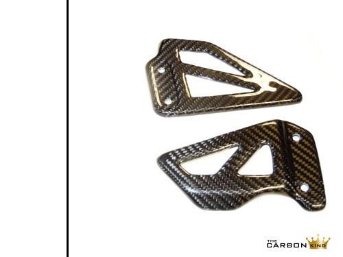SUZUKI GSXR1000 01-02 GSXR750 00-03 GSXR600 01-03 CARBON FIBRE HEEL GUARDS FIBER