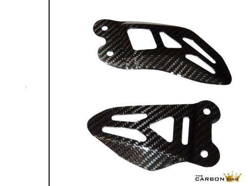 SUZUKI GSXR1000 2009 to 2017 CARBON FIBRE HEEL GUARDS PLATES FIBER 16 15 14 13