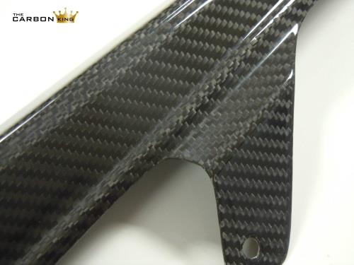 THE CARBON KING SUZUKI GSXR600 SRAD CARBON CHAIN GUARD IN TWILL WEAVE ALL YEARS