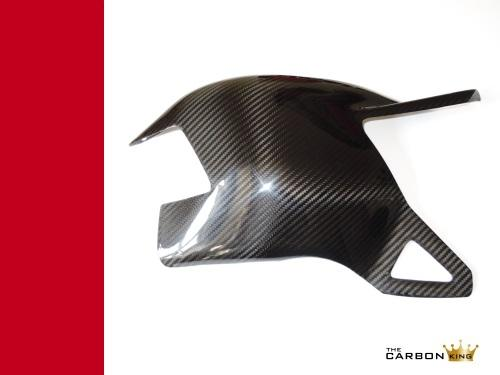 THE CARBON KING 848 1098 1198 SWING ARM COVER IN TWILL CARBON FIBRE FIBER DUCATI