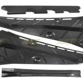 FERRARI 360 MODENA COUPE F1/MANUAL CARBON FIBRE 4 PIECE ENGINE BAY COVER SET