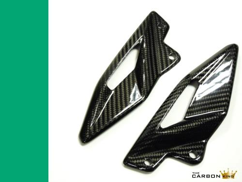 TRIUMPH 765 RS STREET TRIPLE CARBON FIBRE HEEL GUARDS 2017 FIBER THE CARBON KING