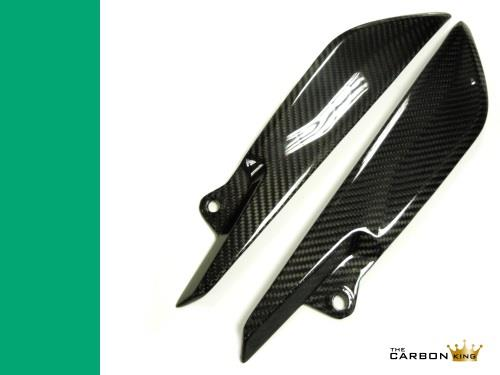 TRIUMPH SPEED TRIPLE CARBON FIBER LOWER TANK SIDE PANELS 2016-17 TWILL WEAVE