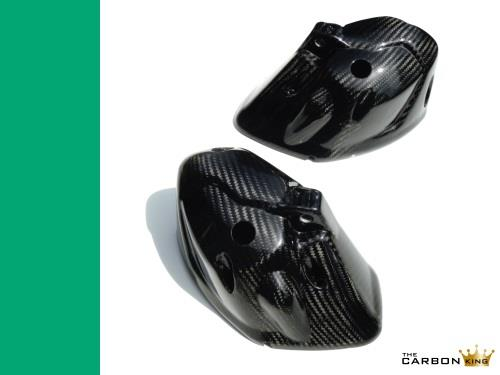 TRIUMPH SPEED & STREET TRIPLE 2011 ON CARBON FIBRE HEADLIGHT COVERS BOWLS COWLS