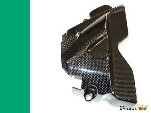 THE CARBON KING TRIUMPH TIGER 800 CARBON FIBRE SPROCKET COVER PLAIN WEAVE FIBER