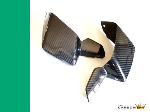 TRIUMPH TIGER 800/XC CARBON FIBRE HANDGUARDS 2011-14 IN TWILL WEAVE FIBER HAND