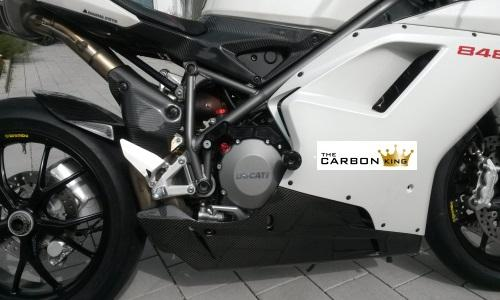THE CARBON KING LOWER BELLY PANS SIDE PANELS – DUCATI 848 1098 1198 FIBER FIBRE