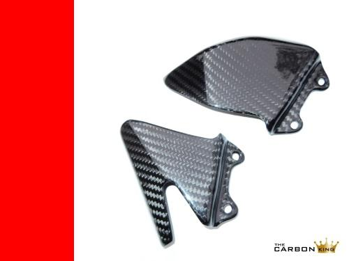 THE CARBON KING MV AGUSTA F4 1000 CARBON FIBRE HEEL GUARDS 2010 -15 FIBER PLATES