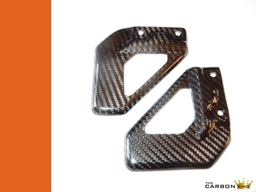 THE CARBON KING APRILIA RSV MILLE & TUONO CARBON FIBRE RIDERS HEEL GUARDS FIBER