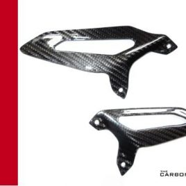 DUCATI PANIGALE 899 1199 1299 CARBON FIBRE RIDERS HEEL GUARDS TWILL GLOSS FIBER