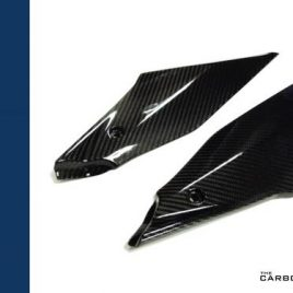YAMAHA R1 2015 ON CARBON FIBRE LOWER TANK SIDE PANEL PAIR FIBER TWILL WEAVE