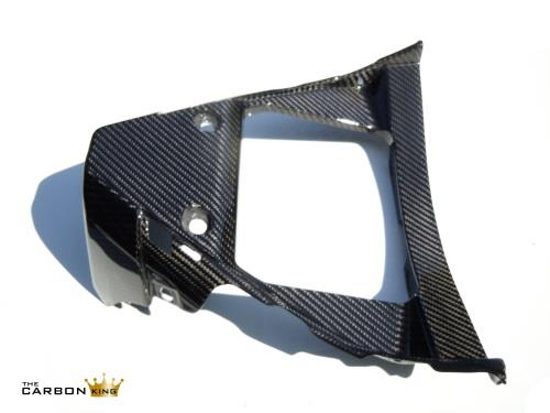 YAMAHA R1 2015 ON CARBON FIBRE FRONT BELLY PAN CHIN V PANEL IN TWILL WEAVE FIBER