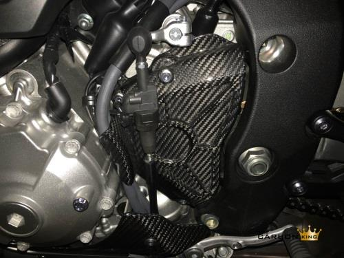 YAMAHA R1 2015 ONWARDS CARBON FIBRE SPROCKET COVER IN GLOSS TWILL WEAVE FIBER